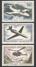 France 1957 Planes/Helicopter/Aviation/Transport/Flight/Jet 3v set (n40608)