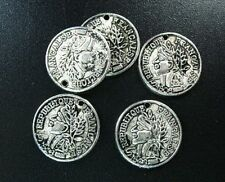 70 pcs Tibetan Silver metal unique coin charms FC1468