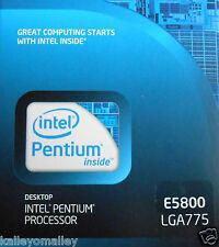 Intel BX80571E5800 SLGTG Pentium E5800 LGA775 3.20 GHz 800 MHz New Retail Box