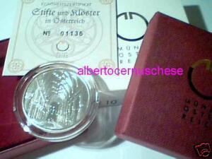 10 euro 2008 argento proof AUSTRIA Abbazia Seckau