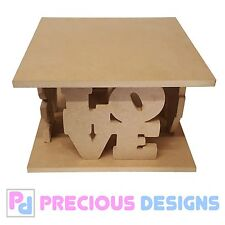 Square Love cake stand Wedding Party Display Crafts Anniversary wood