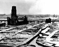 Romtterdam Ruins from German Bombing 8x10 World War II WW2 Bomber Photo 643