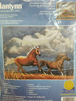 2000 jANLYNN COUNTED CROSS STITCH KIT #13-282 SPIRIT OF THE HORSE
