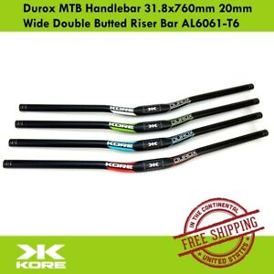 KORE Durox MTB Handlebar 31.8x760mm 20mm Wide Double Butted Riser Bar AL6061-T6