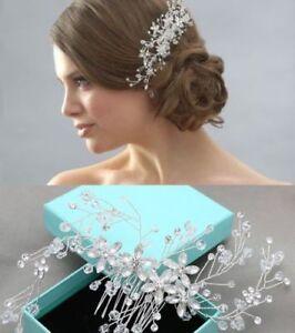 Crystal Star Flower Silver Tone Hair Accessories Wedding Hair Comb
