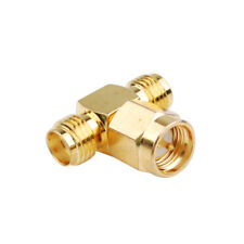 SMA Female to Female to Male Connector Adapter