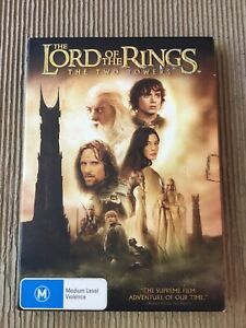 Lord Of The Rings The two towers Original Collectable retro DVD M15+
