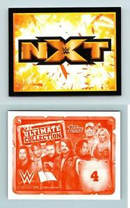 NXT Logo #4 WWE The Ultimate Collection 2017 Topps Sticker