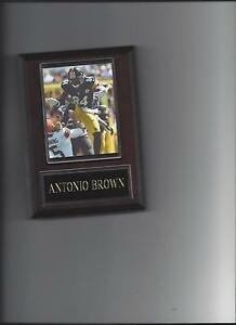 ANTONIO BROWN PLAQUE PITTSBURGH STEELERS FOOTBALL NFL