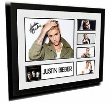 JUSTIN BIEBER 2 SIGNED LIMITED EDITION FRAMED MEMORABILIA
