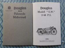 """DOUGLAS MOTORRAD PROSPEKT 1926 """"E.W."""" ENGLAND OLDTIMER ZWILLINGSMASCHINE"""