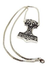 Martillo de Thor Cuervo Cabeza Skane Colgante Viking Collar Cadena Caja Joyería