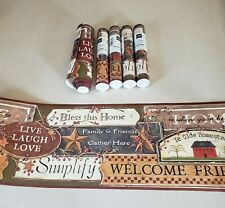 Green//Burgundy York Wallcoverings Best Of Country PC3976BD Country Sign Border