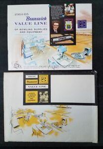 Brunswick Bowling Catalog Supplies and Equipment 1964-65 Envelope Parts Catalog