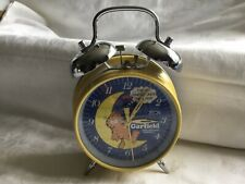 More details for vintage garfield twin bell alarm clock 1978