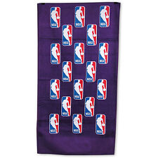 "NBA Logoman McArthur Scattered Pattern Purple ""24 x 42"" Bench Towel NEW!"