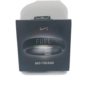 Nike + Fuel Band Small S-P Black Steel Fitness Band Watch Step Tracker Plus