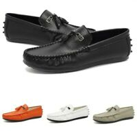 Mens Driving Shoes Casual Slip On Tassel Loafers Leather Comfortable Pumps Shoes