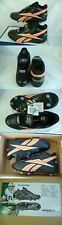 New Mens 9 Reebok RBK NFL Thorpe Mid D Strap Black Orang Football Cleats Shoes