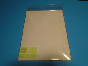 50 Sheets Gartner Studios Baby Feet Stationary Paper Announcement Invite Card