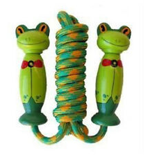 *NEW* Fun Factory Kids Wooden Handle Frog Jump Skipping Rope 245cm
