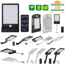 48 LED Remote Solar Wall Light Motion Sensor Dimmable Waterproof Garden Lamp