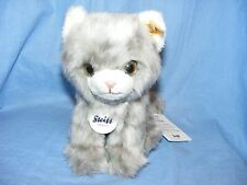 Steiff Kitten Minka Grey Tabby Cat 084010 Baby Christening Birthday Present Gift