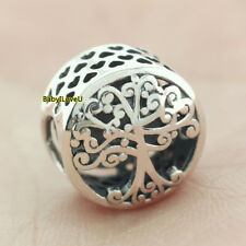 925 Sterling Silver Family Roots Charm Tree Branches 2018 Autumn European Bead