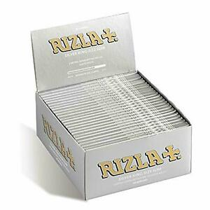 10 x RIZLA SILVER KING SIZE SLIM ULTRA THIN CIGARETTE SMOKING ROLLING PAPERS