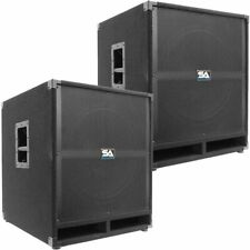 "Pair of SEISMIC AUDIO 18"" PA POWERED SUBWOOFER Active Speakers 500 Watts Each"