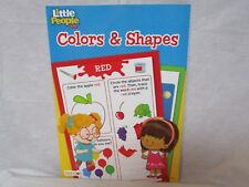 Fisher Price Workbook Colors and Shapes Little People Homeschool Daycare NEW