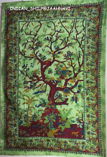 TAPESTRY  HANGING COTTON TREE WALL SINGLE BEDSPREAD THROW ETHNIC DECOR ART YHU