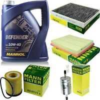 Inspektionspaket MANN Filter Set MANNOL 10W40 Motoröl+ Opel Zafira A 64015877