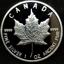 2013 Canada $5 Maple Leaf Cameo Proof Coin 1 oz .9999 Silver.