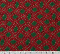 Ozark Christmas Red Green Plaid Cotton Quilting Fabric 2 YARDS