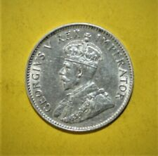 South Africa 3 Pence 1932 Almost Uncirculated Silver Coin - King George V