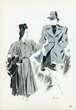 """""""MADELEINE DE RAUCH"""" Annonce originale entoilée PLAIRE 1945 Pierre SIMON"""