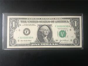 FANCY LUCKY SIX 2s SOLID SN# GEM 2003A $1 ATLANTA FRN << F 222222 33 H >>
