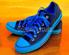 CONVERSE ALL STAR OX ELECTRIC BLUE/ NAVY low top sz 10 12 rare all blue colorway