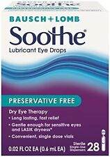 Bausch & Lomb Soothe Preservative Free Lubricant Eye Drops 28 Each