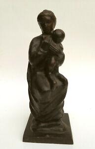 BRONZE Signed Sculpture ~ ITALIAN MODERN ~ Mother & Child TOMMASO GISMONDI