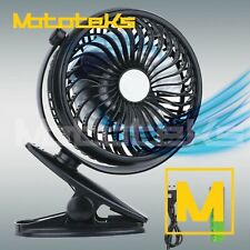 Portable Mini Fan Clip on Stroller Fan for Baby 360° Rotation Usb for Bed Office