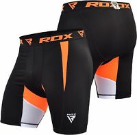 RDX MMA Thermal Compression Shorts Flex Base Layers Sports Mens Boxing ExerciseJ