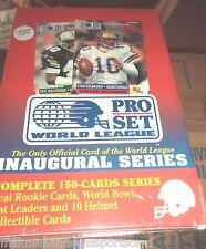 1990 PRO SET BOX world league 4 FACTORY SETS  600 footbal cards @ $17.95