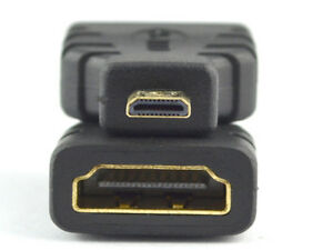 Regular HDMI Type A Female to Micro HDMI Type D Male Adapter Converter Connector