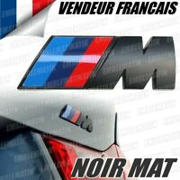 Badge BMW M-Tech Noir Mat Logo Coffre Emblème M3 E36 E46 E90 E92 E81 E39 E60