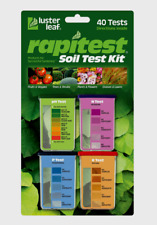 Luster Leaf RAPITEST Soil Test KIT 40 pk pH Nitrogen Phosphorus Potassium 1601