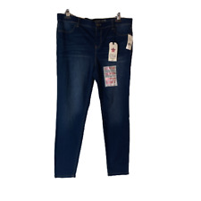 Vanilla Star Mid Rise Pull On Jegging Skinny Jeans Size 15 New