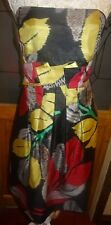 TEATRO BLACK MULTI LINED STRAPPY/STRAPLESS DRESS SZ 16 BNWT- FEELS LIKE RAW SILK