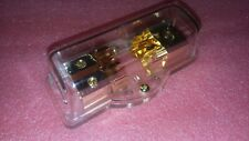 HEAVY DUTY AGU FUSE/DISTRIBUTION BLOCK 1-IN(4AWG) 2-OUT(8AWG) GOLD PLATED